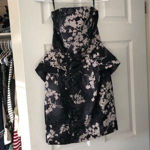 Peplum mini floral dress